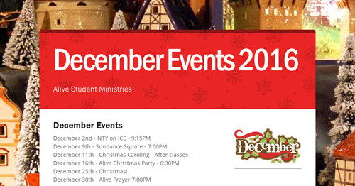 December Events 2016