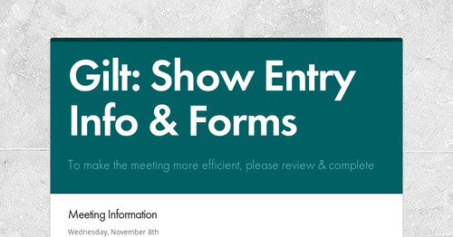 Gilt: Show Entry Info & Forms