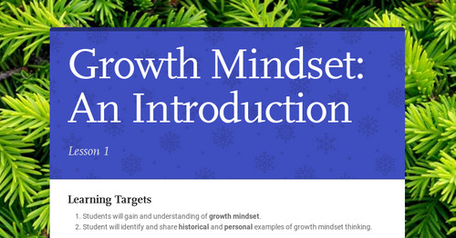 Growth Mindset: An Introduction
