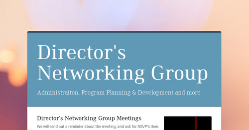 Director Support Group