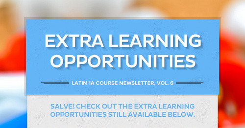 Extra Learning Opportunities