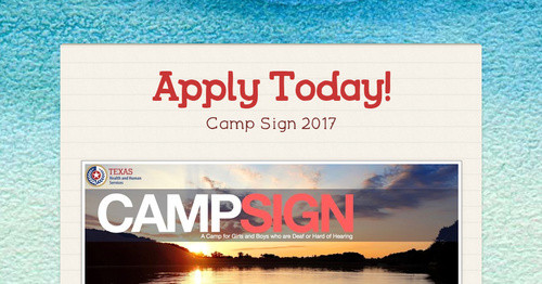 Calling All Campers & Counselors!