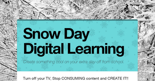 Snow Day Digital Learning