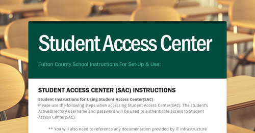 Student Access Center