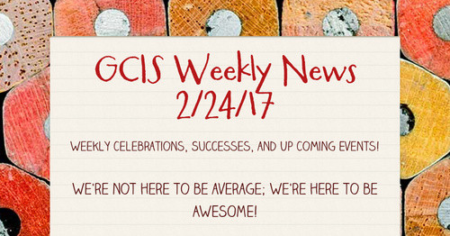GCIS Weekly News 2/24/17