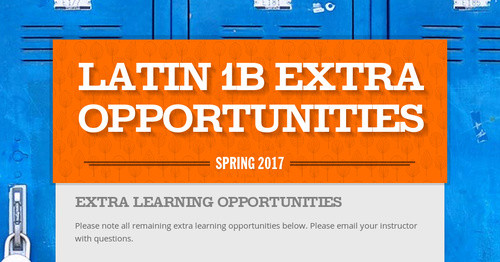 Latin 1B Extra Opportunities