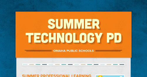 Summer Technology PD