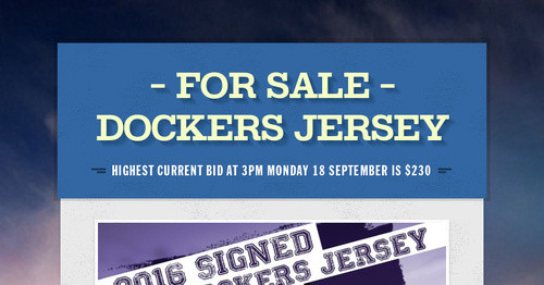 - FOR SALE -        DOCKERS JERSEY