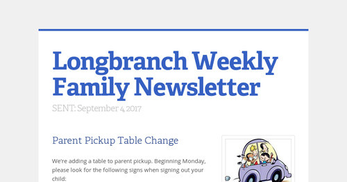 Longbranch Weekly Family Newsletter