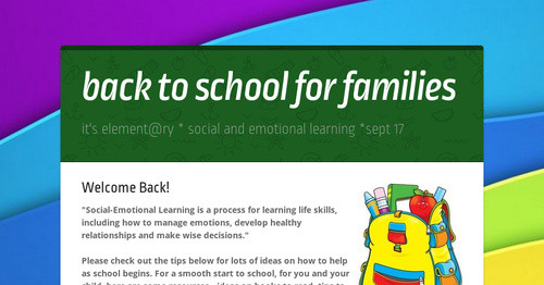 back to school for families
