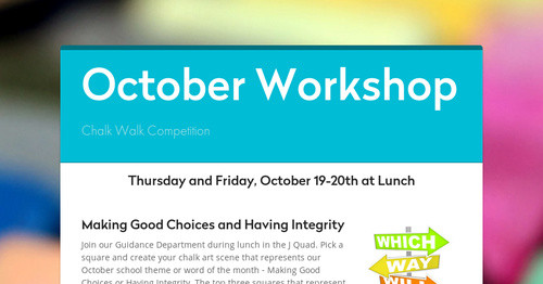 October Workshop