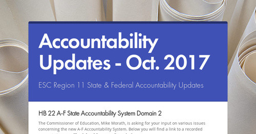 Accountability Updates - Oct. 2017