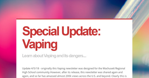 Special Update: Vaping