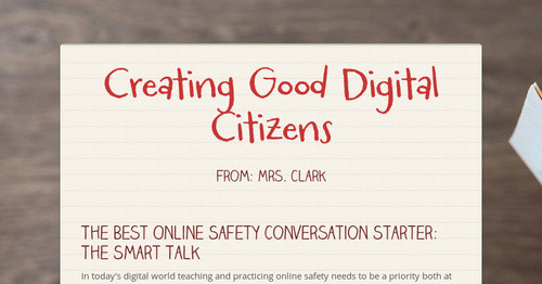 Creating Good Digital Citizens | Smore Newsletters