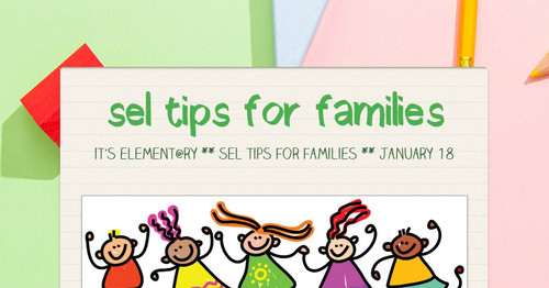 sel tips for families