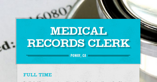 how to become a medical records clerk