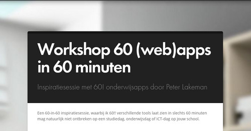 Workshop 60 (web)apps in 60 minuten