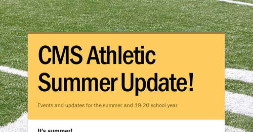 CMS Athletic Clinics