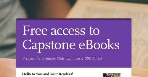 Free access to Capstone eBooks
