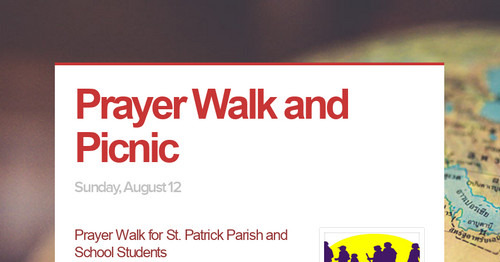 Prayer Walk and Picnic