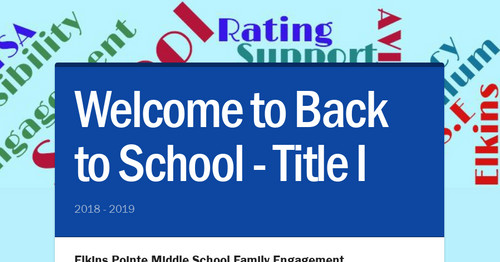 Welcome to Back to School - Title I