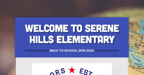Welcome to Serene Hills Elementary
