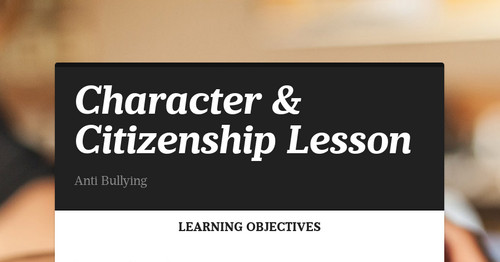Character & Citizenship Lesson