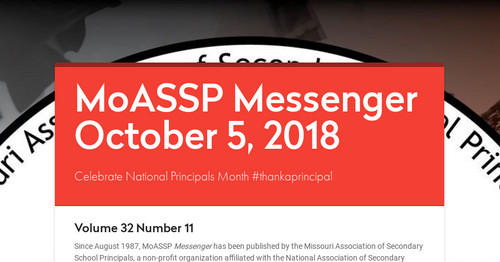 MoASSP Messenger October 5, 2018