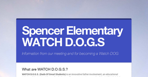 Spencer Elementary WATCH D.O.G.S