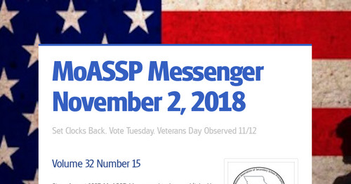 MoASSP Messenger November 2, 2018