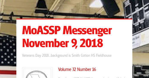 MoASSP Messenger November 9, 2018