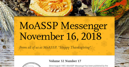 MoASSP Messenger November 16, 2018