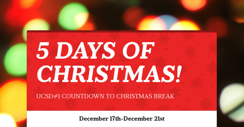 5 DAYS OF CHRISTMAS!