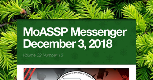 MoASSP Messenger December 3, 2018