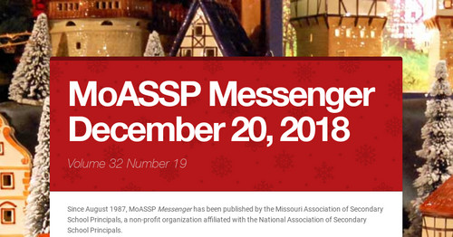 MoASSP Messenger December 20, 2018