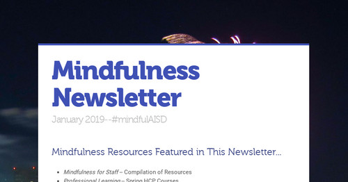 Mindfulness Newsletter