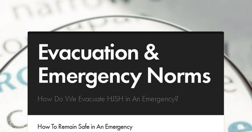 Evacuation & Emergency Norms