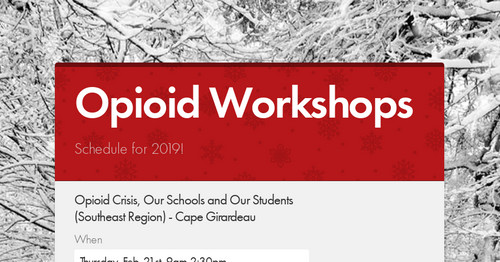 Opioid Workshops