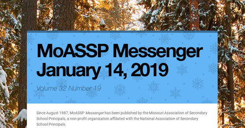 MoASSP Messenger January 14, 2019