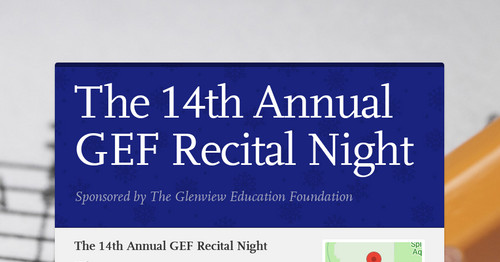 The 14th Annual GEF Recital Night