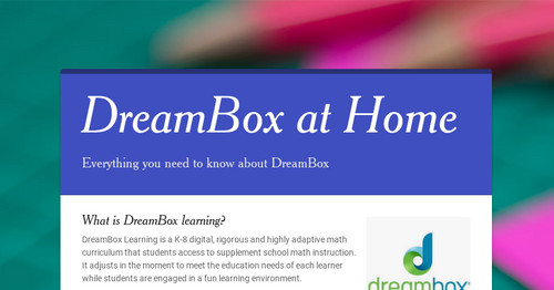 DreamBox at Home