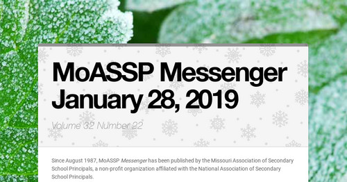 MoASSP Messenger January 28, 2019
