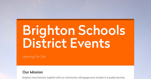 Brighton Schools District Events