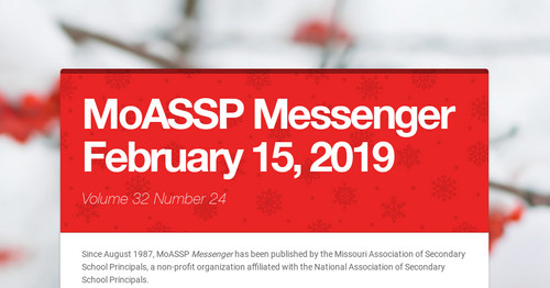 MoASSP Messenger February 15, 2019