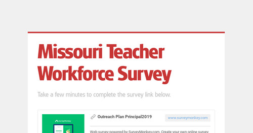 Missouri Teacher Workforce Survey