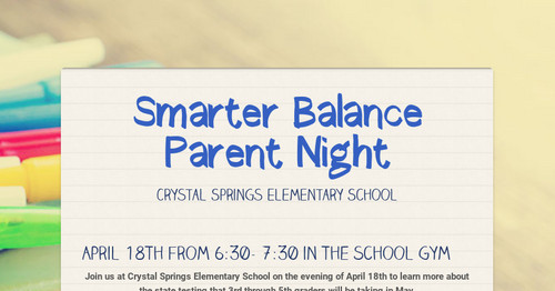 Smarter Balance Parent Night