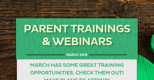 Parent Trainings & Webinars