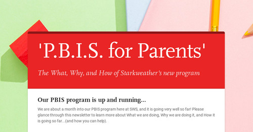 'P.B.I.S. for Parents'