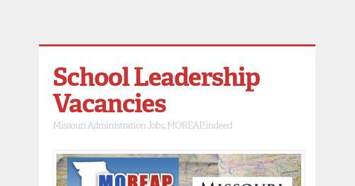 School Leadership Vacancies