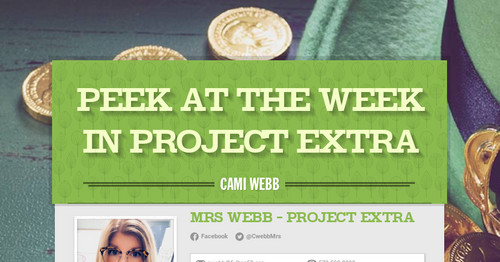 Peek at the Week in Project Extra